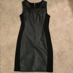 Black leather H&M dress size small